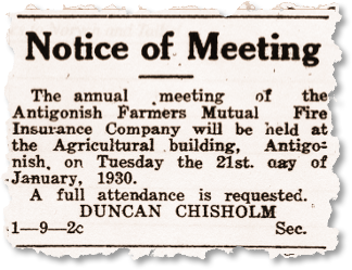 1930 Annual General Meeting Ad